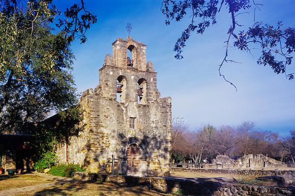 Mission Espada, San Antonio Missions National Historic Park, San Antonio,Texas, USA, January 2006