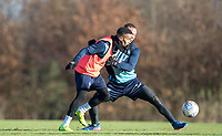 Paris Cowan-Hall of Wycombe Wanderers & Curtis Thompson of Wycombe Wanderers during the Wycombe Wanderers Training session at Wycombe Training Ground, High Wycombe, England on 17 January 2019. Photo by Andy Rowland.
