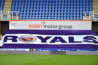 Signage at the Madejski stadium during Reading vs Watford, Sky Bet EFL Championship Football at the Madejski Stadium on 3rd October 2020