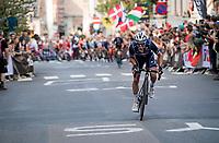 Julian Alaphilippe (FRA/Deceuninck - Quick Step)<br /> <br /> Elite Men World Championships - Road Race<br /> from Antwerp to Leuven (268.3km)<br /> <br /> UCI Road World Championships - Flanders Belgium 2021<br /> <br /> ©kramon
