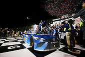 Monster Energy NASCAR Cup Series<br /> Go Bowling 400<br /> Kansas Speedway, Kansas City, KS USA<br /> Saturday 13 May 2017<br /> Martin Truex Jr, Furniture Row Racing, Auto-Owners Insurance Toyota Camry celebration<br /> World Copyright: Barry Cantrell<br /> LAT Images<br /> ref: Digital Image 17KAN1bc4840