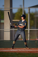 Malcolm Moore (28) during the WWBA World Championship at Lee County Player Development Complex on October 9, 2020 in Fort Myers, Florida.  Malcolm Moore, a resident of Sacramento, California who attends C. K. Mcclatchy High School, is committed to Stanford.  (Mike Janes/Four Seam Images)