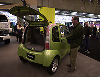 D&K :Montreal, Oct 2000<br /> Various car manufacturer such as Nissan with Hyper Mini model,  were showing electrical and hybrid vehicules at the EVS-17 conference on Electrical Vehicules held from October 14 to 17 in Montreal, Canada<br /> Photo : Pierre Roussel / Newsmakers<br /> <br /> NOTE :  Nikon D-1 digital photos (similar 35mm slides available on request)