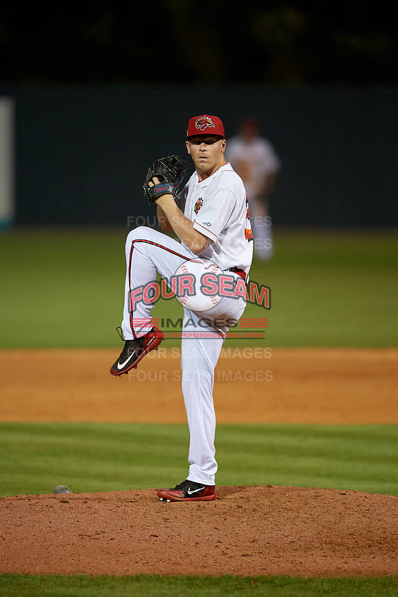 Florida Fire Frogs relief pitcher Walter Borkovich (33) during a Florida State League game against the Jupiter Hammerheads on April 8, 2019 at Osceola County Stadium in Kissimmee, Florida.  Florida defeated Jupiter 7-6 in ten innings.  (Mike Janes/Four Seam Images)