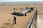 Exclusive Pics show:<br /> Boat believed to be rhib  dinghy carrying illegal immigrants on the beach at Dymchurch<br /> <br /> minimum fee £200 per pic or £500 per set.<br /> syndication rights acquired by pixel8000ltd<br /> <br /> <br /> <br /> <br /> Exclusive Pics by Desrin Wickington/ Pixel 8000 Ltd