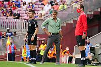 29th August 2021; Nou Camp, Barcelona, Spain; La Liga football league, FC Barcelona versus Getafe; Michel Getafe coach of Getafe