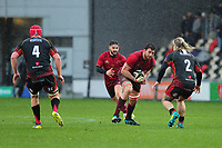 Jean Kleyn of Munster in action during the Guinness Pro14 Round 14 match between the Dragons and Munster Rugby at Rodney Parade in Newport, Wales, UK.  Saturday 26 January  2019