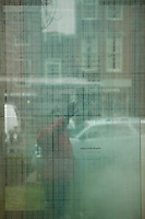 New England Holocaust Memorial. Six glass towers containing six million prisoner numbers