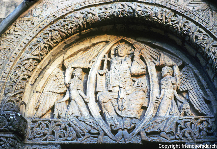 Ely: Cathedral--Prior's Door, close up, Tympanum. Photo '90.