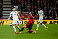 BOURNEMOUTH, ENGLAND - MARCH 18:Jack Cork of Swansea City in action  during the Premier League match between AFC Bournemouth and Swansea City  at Vitality Stadium, Bournemouth, England, UK. Saturday 18 March 2017