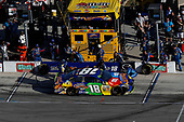 Monster Energy NASCAR Cup Series<br /> AAA Texas 500<br /> Texas Motor Speedway<br /> Fort Worth, TX USA<br /> Sunday 5 November 2017<br /> Kyle Busch, Joe Gibbs Racing, M&M's Caramel Toyota Camry, pit stop<br /> World Copyright: Michael L. Levitt<br /> LAT Images