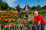 Andrew Griffin (Gardener), Paddy Osborne (Gardener) and Anthony Moran (Caretaker), pictured atTralee Town Park on Tuesday last.