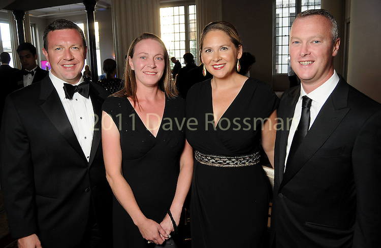 From left: David and Sarah Suttles with Anne and Andrew Calder at the Houston Symphony Opening Night Champagne at The Corinthian Saturday Sept. 12,2015.(Dave Rossman photo)