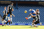 Rangers v St Mirren: Alfredo Morelos heads in his first goal of the game