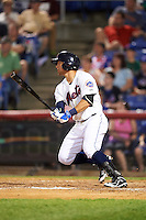 Binghamton Mets second baseman L.J. Mazzilli (7) during a game against the Trenton Thunder on May 29, 2016 at NYSEG Stadium in Binghamton, New York.  Trenton defeated Binghamton 2-0.  (Mike Janes/Four Seam Images)