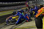 Monster Energy NASCAR Cup Series<br /> Monster Energy NASCAR All-Star Race<br /> Charlotte Motor Speedway, Concord, NC USA<br /> Saturday 20 May 2017<br /> Kyle Busch, Joe Gibbs Racing, M&M's Caramel Toyota Camry pits.<br /> World Copyright: Rusty Jarrett<br /> LAT Images<br /> ref: Digital Image 17CLT1rj_4717