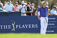 14th March 2021; Ponte Vedra Beach, Florida, USA;  Justin Thomas of the United States looks on from the 12th hole during the final round of THE PLAYERS Championship on March 14, 2021 at TPC Sawgrass Stadium Course in Ponte Vedra Beach, Fl.