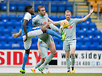 St Johnstone v Hartlepool…22.07.17… McDiarmid Park… Pre-Season Friendly<br />Romaine Habran and Louis Laing scarp for the ball<br />Picture by Graeme Hart.<br />Copyright Perthshire Picture Agency<br />Tel: 01738 623350  Mobile: 07990 594431
