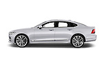Car Driver side profile view of a 2017 Volvo S90 Inscription 4 Door Sedan Side View