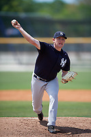 New York Yankees starting pitcher Zack Littell (15) delivers a pitch during a minor league Spring Training game against the Toronto Blue Jays on March 30, 2017 at the Englebert Complex in Dunedin, Florida.  (Mike Janes/Four Seam Images)