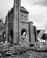 Roman Catholic cathedral, Nagasaki, ca.  1945. (Corps of Engineers)<br /> Exact Date Shot Unknown<br /> NARA FILE #:  077-AEC-52-4457<br /> WAR & CONFLICT BOOK #:  1243