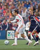 Chicago Fire midfielder Cuauhtemoc Blanco (10) at midfield. The New England Revolution out scored the Chicago Fire, 2-1, in Game 1 of the Eastern Conference Semifinal Series at Gillette Stadium on November 1, 2009.