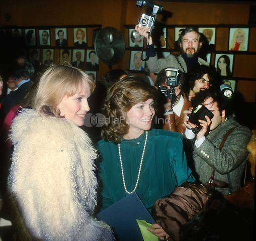 Mia Farrow Sally Field 1979<br /> Photo By John Barrett/PHOTOlink/MediaPunch