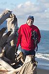 Al Bergstein, videographer, Elwha River estuary, Olympic Peninsula, Washington State,