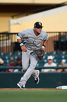 Tampa Yankees first baseman Matt Snyder (29) during a game against the Lakeland Flying Tigers on April 9, 2015 at Joker Marchant Stadium in Lakeland, Florida.  Tampa defeated Lakeland 2-0.  (Mike Janes/Four Seam Images)