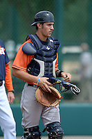 Houston Astros catcher Jamie Ritchie (44) during practice before an Instructional League game against the Atlanta Braves on September 22, 2014 at the ESPN Wide World of Sports Complex in Kissimmee, Florida.  (Mike Janes/Four Seam Images)