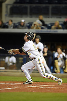 Vanderbilt Commodores outfielder Bryan Reynolds (20) at bat during a game against the Indiana State Sycamores on February 20, 2015 at Charlotte Sports Park in Port Charlotte, Florida.  Vanderbilt defeated Indiana State 3-2.  (Mike Janes/Four Seam Images)