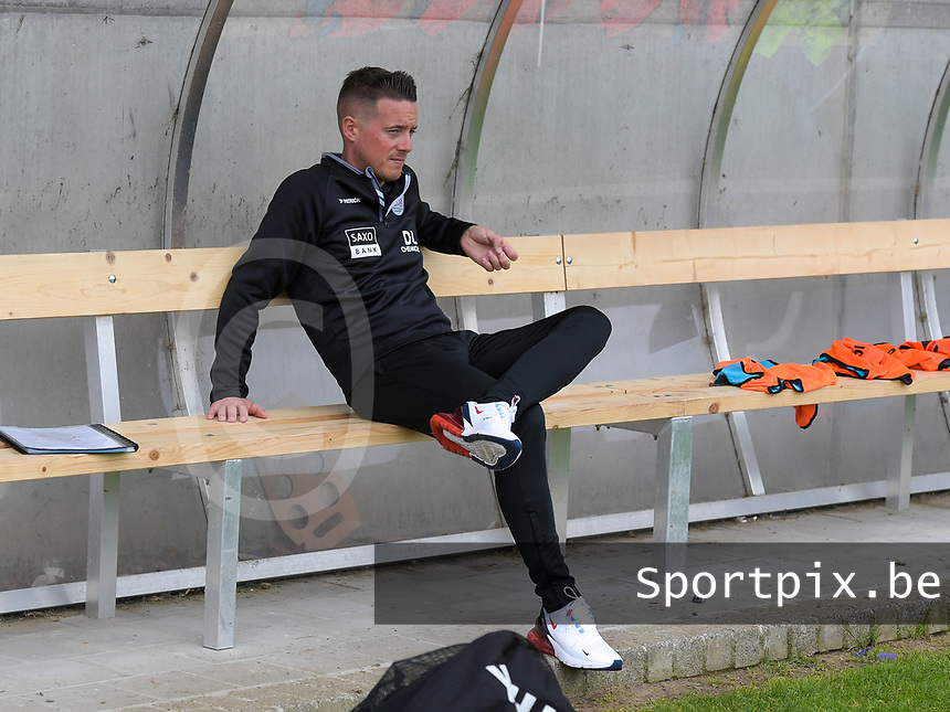 Head coach Angelo Gaytant of Zulte-Waregem pictured before a female soccer game between SV Zulte - Waregem and Club Brugge YLA on the fourth matchday of the 2021 - 2022 season of the Belgian Scooore Womens Super League , saturday 11 of September 2021  in Harelbeke , Belgium . PHOTO SPORTPIX | DIRK VUYLSTEKE