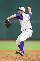 Winston-Salem Dash relief pitcher Joe Dvorsky (38) in action against the Frederick Keys at BB&T Ballpark on July 21, 2013 in Winston-Salem, North Carolina.  The Dash defeated the Keys 3-2.  (Brian Westerholt/Four Seam Images)