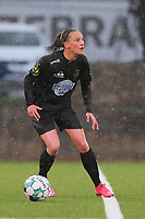 Clotilde Codden (23) of Woluwe pictured during a female soccer game between Sporting Charleroi and White Star Woluwe on the 7 th matchday in play off 2 of the 2020 - 2021 season of Belgian Scooore Womens Super League , friday 14 th of May 2021  in Marcinelle , Belgium . PHOTO SPORTPIX.BE | SPP | Sevil Oktem