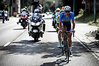Niki Terpstra (NED/Total Direct Energie) leading the front group. <br /> <br /> <br /> Circuit de Wallonie 2019<br /> One Day Race: Charleroi – Charleroi 192.2km (UCI 1.1.)<br /> Bingoal Cycling Cup 2019