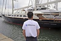 """- Viareggio (Toscana), salone della nautica, la nave a vela Perini """"Principessa Vai Via"""", già appartenuta a Silvio Berlusconi<br /> <br /> - Viareggio (Tuscany), Versilia Yachting Rendez-vous; The sailing ship Perini """"Principessa Vai Via"""", already belonged to Silvio Berlusconi"""