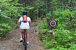 Bicycling in Camden Hills State Park, Camden, Maine, USA