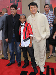 Ralph Macchio,Jaden Smith & Jackie Chan at the Columbia pictures L.A. Premiere of The Karate Kid held at The Mann Village Theatre in Westwood, California on June 07,2010                                                                               © 2010 Debbie VanStory / Hollywood Press Agency