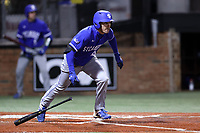 ELON, NC - FEBRUARY 28: Brandt Nowaskie #16 of Indiana State University hits the ball during a game between Indiana State and Elon at Walter C. Latham Park on February 28, 2020 in Elon, North Carolina.
