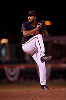 San Jose Giants relief pitcher Joey Marciano (54) during a California League game against the Visalia Rawhide on April 12, 2019 at San Jose Municipal Stadium in San Jose, California. Visalia defeated San Jose 6-2. (Zachary Lucy/Four Seam Images)