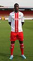 Oumare Tounkara of Stevenage<br />   Stevenage FC Team Photoshoot - Lamex Stadium, Stevenage - 16th July, 2013<br />  © Kevin Coleman 2013