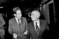 - Amintore Fanfani e Flaminio Piccoli (DC), festa dell'Amicizia a Udine, 1977....- Amintore Fanfani e Flaminio Piccoli (DC, Christian Democratic Party), Fest of the Friendship in Udine, 1977