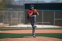 Arizona Diamondbacks relief pitcher Colin Poche (19) prepares to deliver a pitch during a Minor League Spring Training intrasquad game at Salt River Fields at Talking Stick on March 12, 2018 in Scottsdale, Arizona. (Zachary Lucy/Four Seam Images)