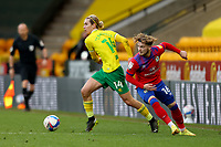 20th March 2021; Carrow Road, Norwich, Norfolk, England, English Football League Championship Football, Norwich versus Blackburn Rovers; Todd Cantwell of Norwich City takes on Harvey Elliott of Blackburn Rovers