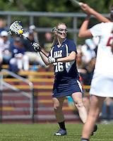 Yale University attacker Devon Rhodes (16). Boston College defeated Yale University, 16-5, at Newton Campus Field, April 28, 2012..