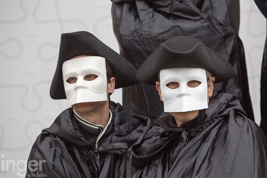Carnivale Venice Mask Wearers, Italy