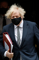 LONDON, UNITED KINGDOM - MARCH 24, 2021: British Prime Minister Boris Johnson leaves 10 Downing Street for PMQs at the House of Commons on 24 March, 2021 in London, England<br /> CAP/GOL<br /> ©GOL/Capital Pictures