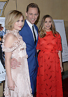 Maddie Hasson + Tom Hiddleston + Elizabeth Olsen @ the premiere of 'I Saw The Light' held @ the Egyptian theatre.<br /> March 22, 2016