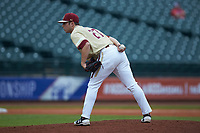 Boston College Eagles relief pitcher Brian Rapp (27) looks to his catcher for the sign against the North Carolina Tar Heels in Game Five of the 2017 ACC Baseball Championship at Louisville Slugger Field on May 25, 2017 in Louisville, Kentucky. The Tar Heels defeated the Eagles 10-0 in a game called after 7 innings by the Mercy Rule. (Brian Westerholt/Four Seam Images)