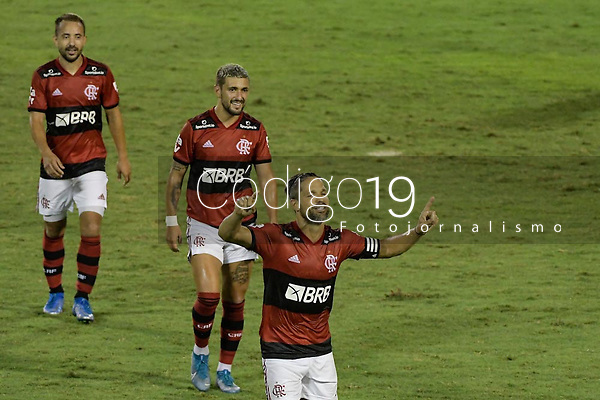 Volta Redonda (RJ), 05/04/2021 - MADUREIRA-FLAMENGO - Diego Ribas, do Flamengo, comemora gol. Partida entre Madureira e Flamengo, válida pela oitava rodada da Taça Guanabara, realizada no Estádio Raulino de Oliveira, em Volta Redonda, nesta segunda-feira (05).